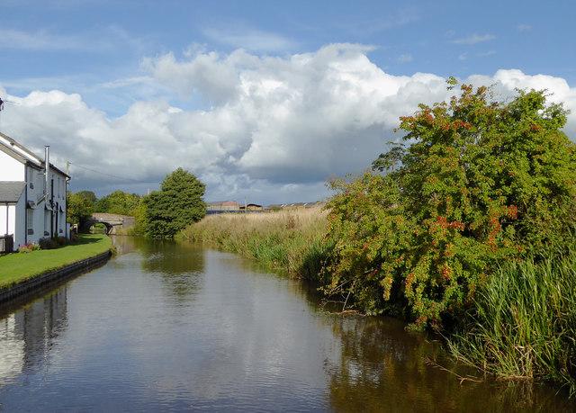Llangollen Canal near Tetchill in Shropshire