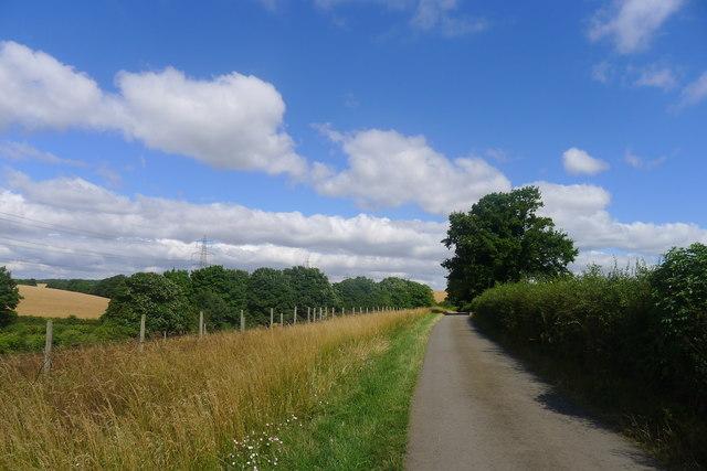 Minor road near Black Spring Farm