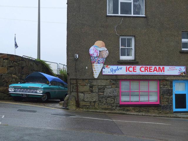 Styles Ice Cream, Coinagehall Street, Penzance
