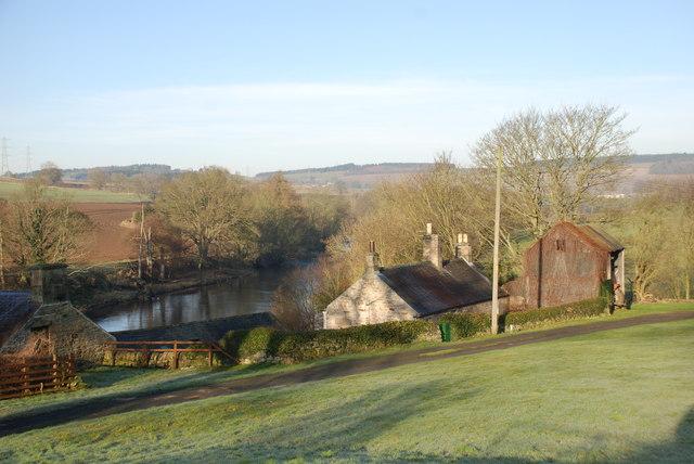 Farmstead on River North Tyne near Wall Northumbria