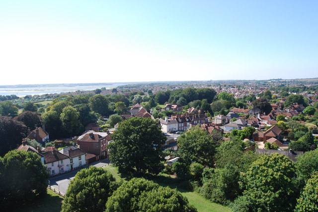 The view west from Portchester Castle