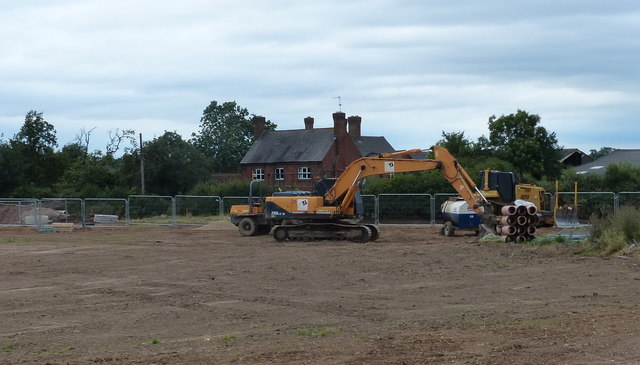 Building site next to Old Warren Farm