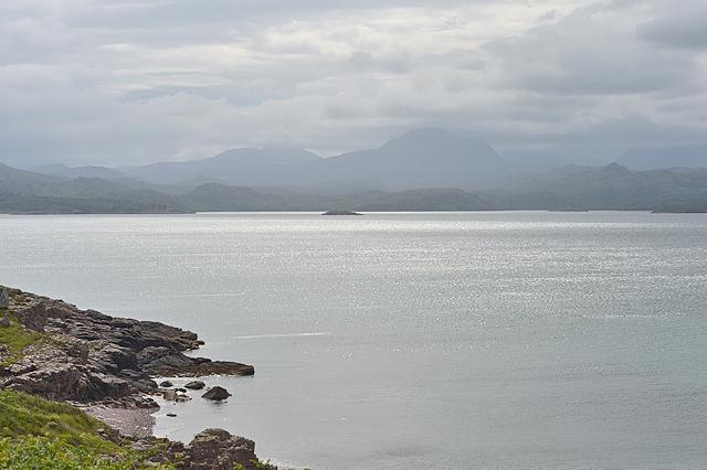 Mixed lighting over Gairloch Bay