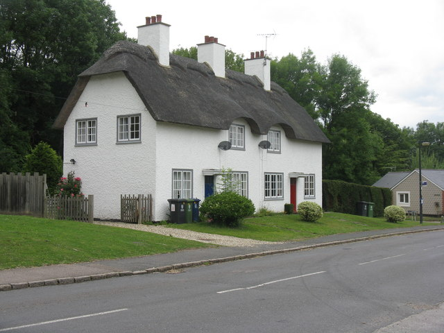 Thatched cottages at Madingley