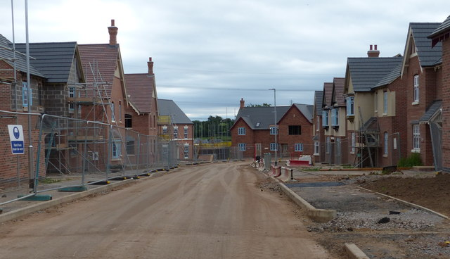 Ness Way under construction at Hereswode