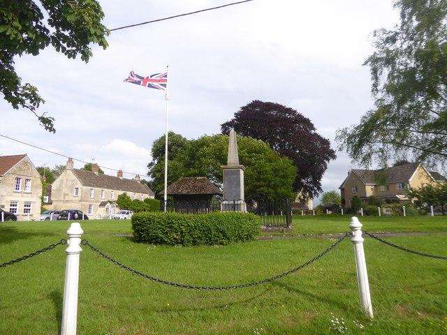 War memorial on Holt village green