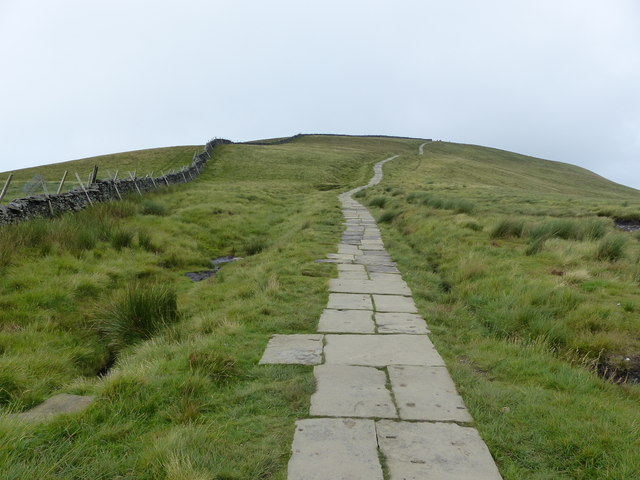 Path to the summit of Pen-y-ghent