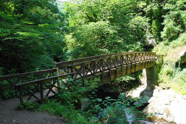 Footbridge over the East Lyn River