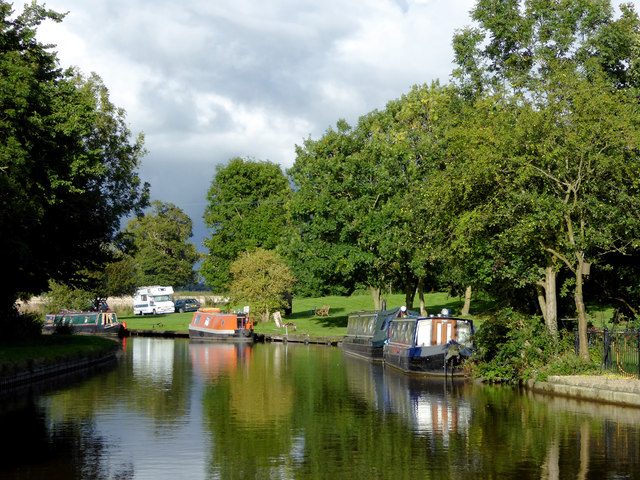 Moorings north-west of Tetchill in Staffordshire