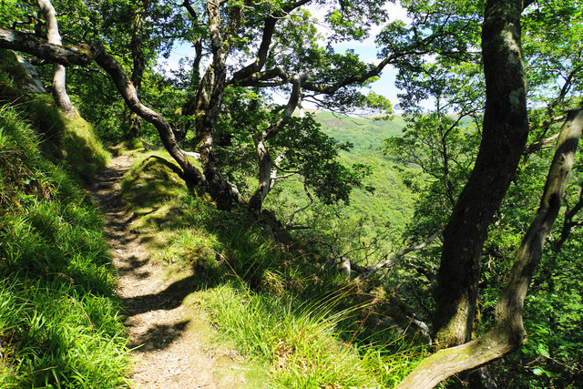 Footpath above the East Lyn valley