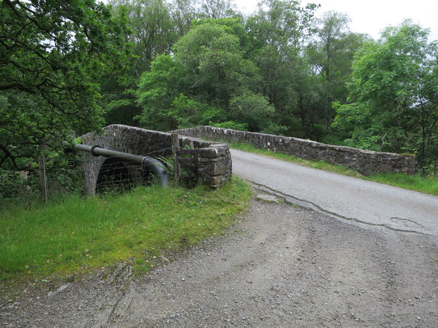 Old Military Road crossing the River Strae