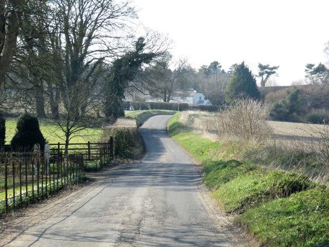 Rural road by Borough Farm