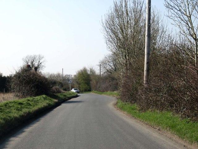 Rural road to Wonston