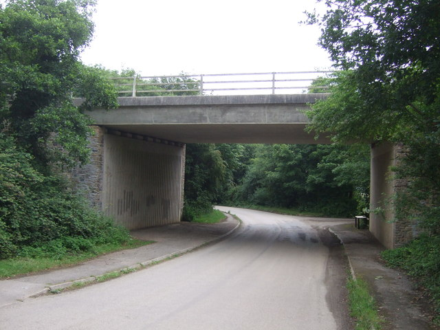 A394 bridge over National Cycle Route 3, Gwallon