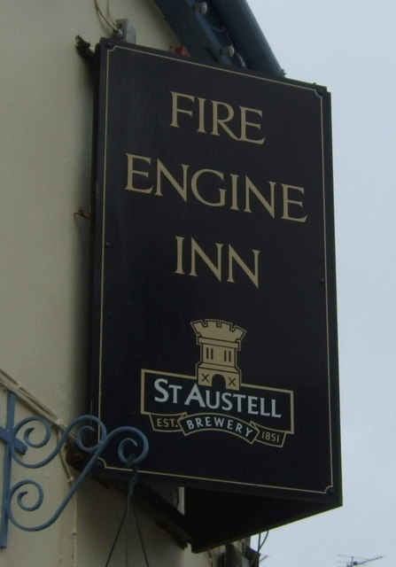 Sign for the Fire Engine Inn, Marazion