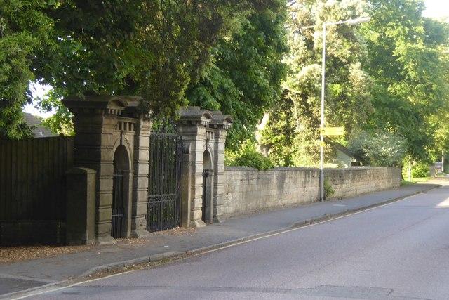 Gate  to an old house, Hilperton Road, Trowbridge