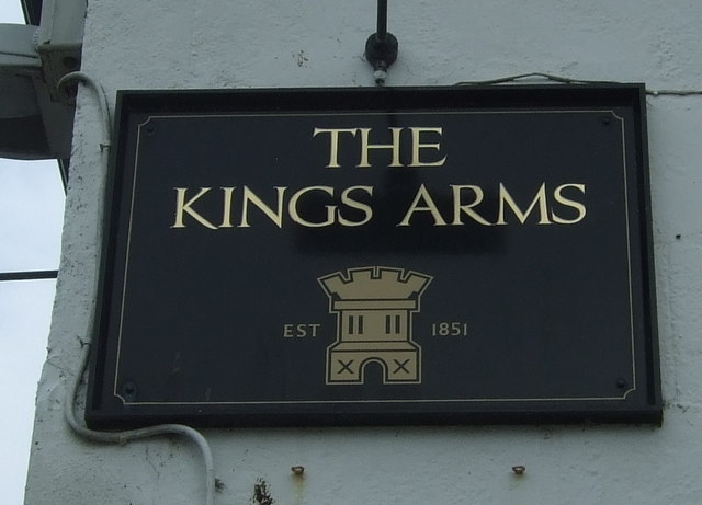 Sign on the Kings Arms, Marazion