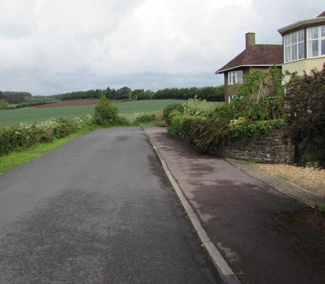 Northwest end of Grove Road, Lydney