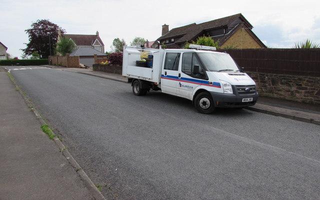 Eurovia Surfacing vehicle, Templeway West, Lydney