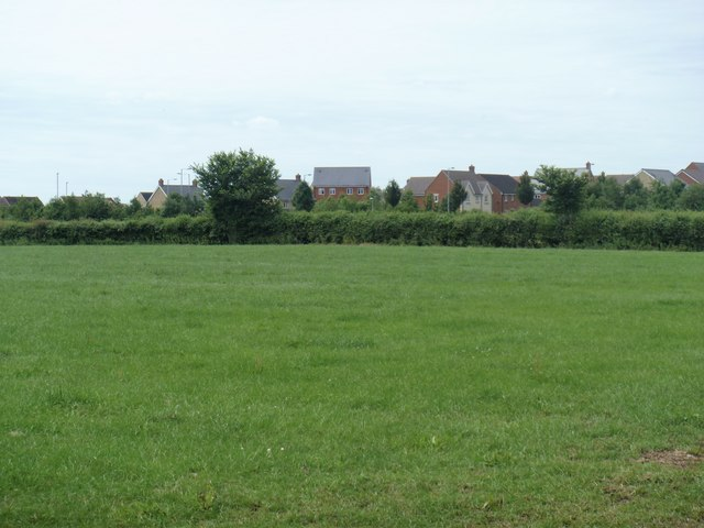 Green field, new houses