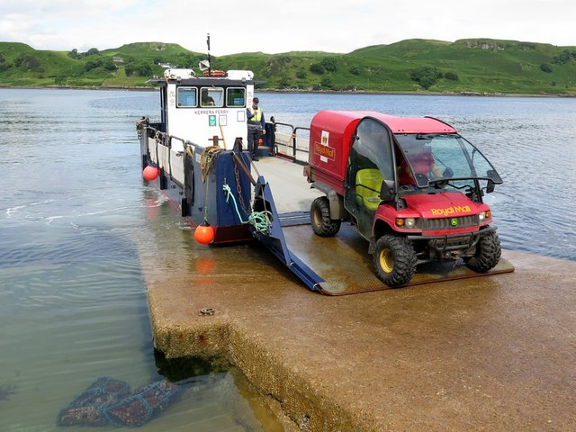 Loading the Kerrera Ferry