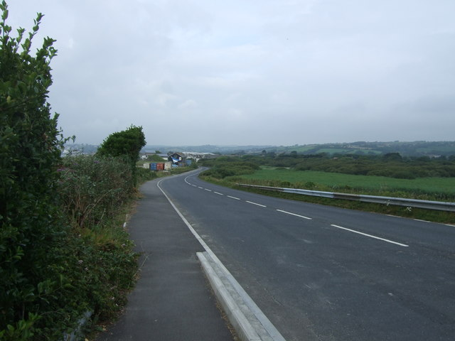 Coastal road towards Penzance