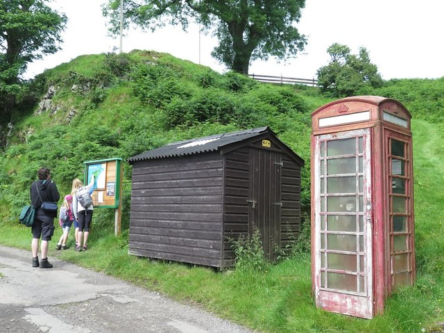 Telephone box near Ferry House, Kerrera
