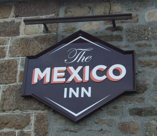 Sign on the Mexico Inn, Longrock