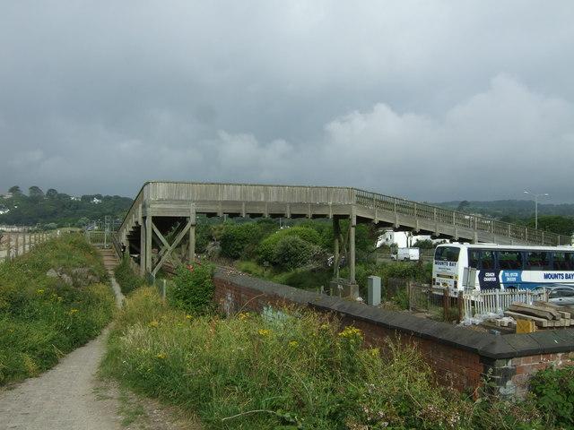 Foot bridge over London to Penzance railway