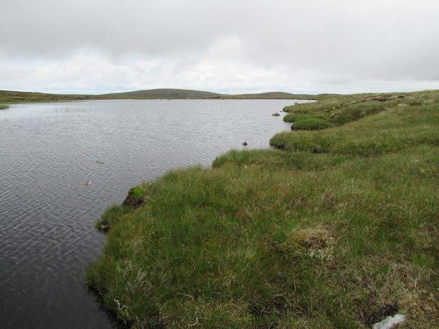 East shore of Lochan Iain above upper Speyside