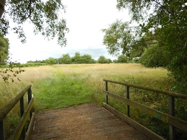 Footbridge towards Bambridge Farm