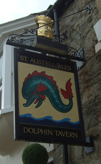 Sign for the Dolphin Tavern, Penzance