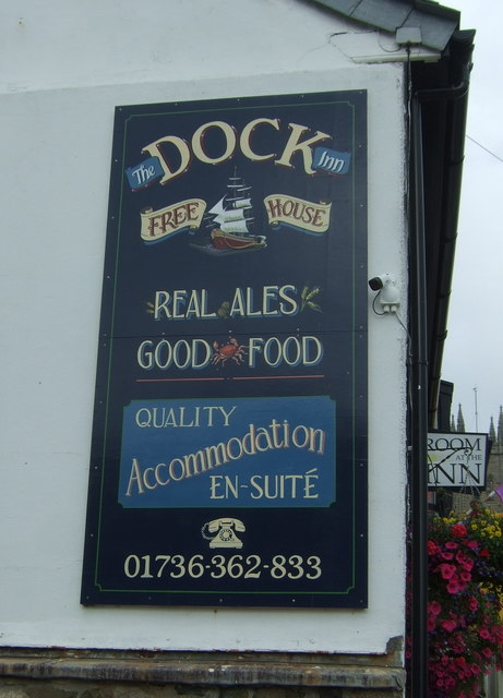 Sign on the Dock Inn, Penzance