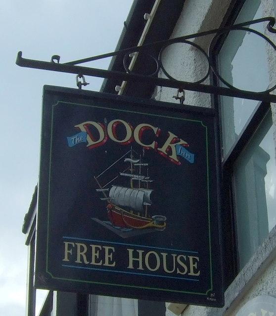 Sign for the Dock Inn, Penzance