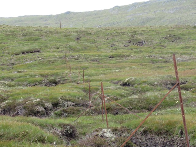 Boundary fence running north-west above upper Speyside