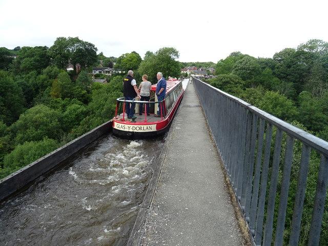 Crossing the Pontcysyllte Aqueduct