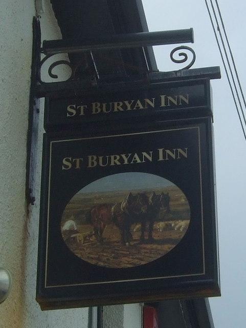 Sign for the St Buryan Inn