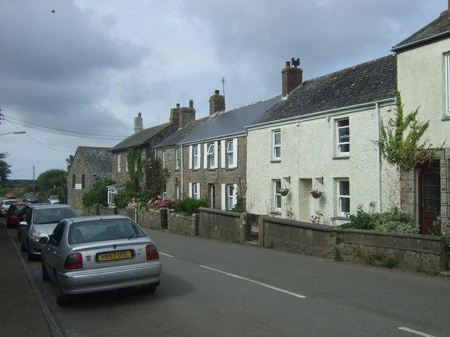 Cottages on Lands End Road, St Buryan