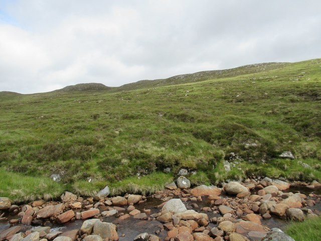 Carn Dearg east of Allt Luaidhe above upper Speyside