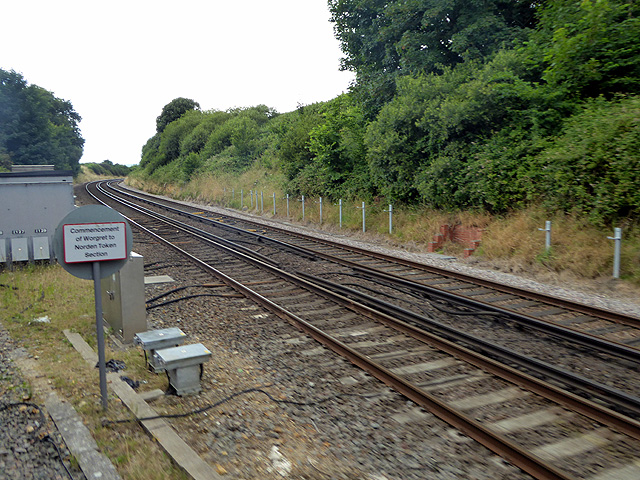 Joining the main line at Worgret Junction