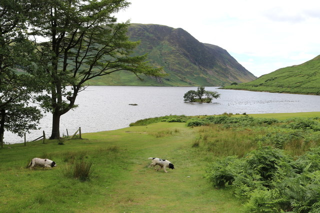 Hot on a trail by Crummock Water