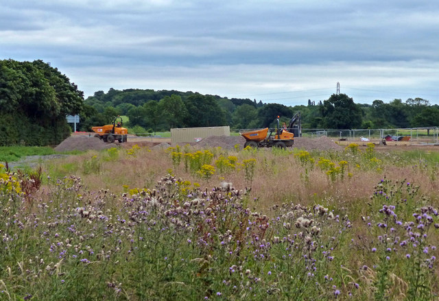 Construction work at the Everards Meadows