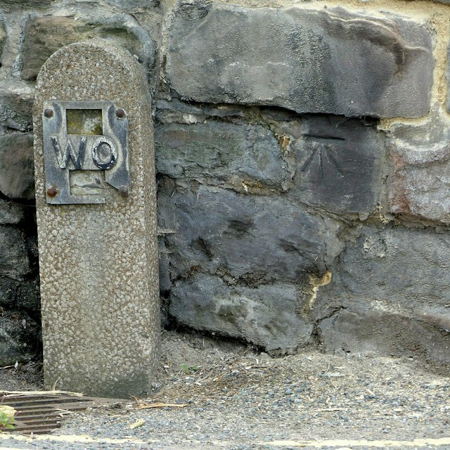 Bench mark, 14 High Street, Belper