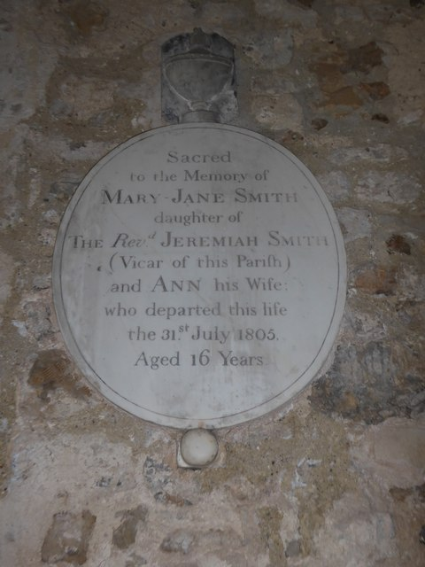 St Mary Magdalene, Wartling: memorial (ii)