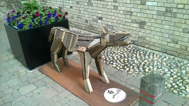 Wolf sculpture, Risbygate Street, Bury St Edmunds
