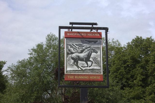 The Running Horse sign, Leatherhead