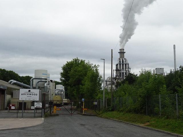 Factories beside the railway