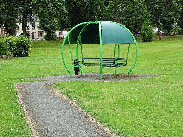 Alien landing in the park
