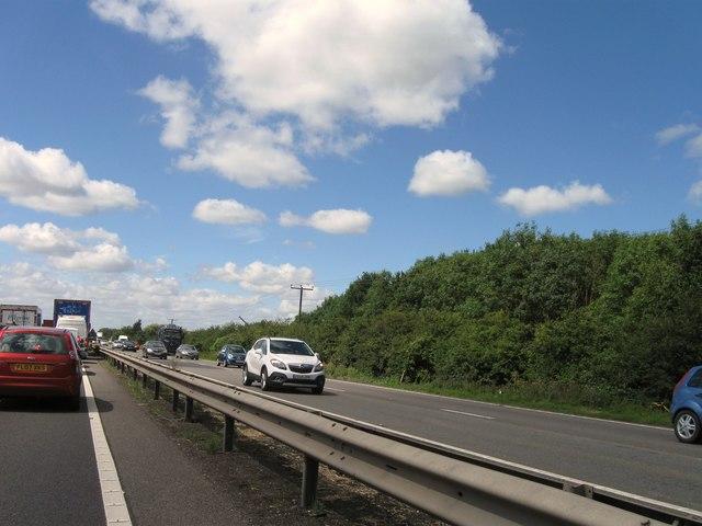 A14 westbound