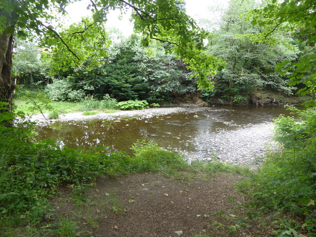 Part of the Afon Rhiw at Berriew